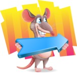 Cartoon Funny Mouse Vector Character - Shape 8