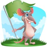 Cartoon Funny Mouse Vector Character - Shape 9
