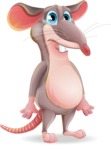 Cartoon Funny Mouse Vector Character - with Sad face