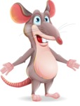 Cartoon Funny Mouse Vector Character - with Stunned face