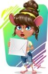 Cute Female Mouse Cartoon Vector Character - Shape 11