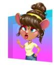 Cute Female Mouse Cartoon Vector Character - Shape 3