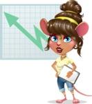 Cute Female Mouse Cartoon Vector Character - Shape 6