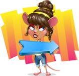 Cute Female Mouse Cartoon Vector Character - Shape 8