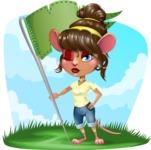 Cute Female Mouse Cartoon Vector Character - Shape 9