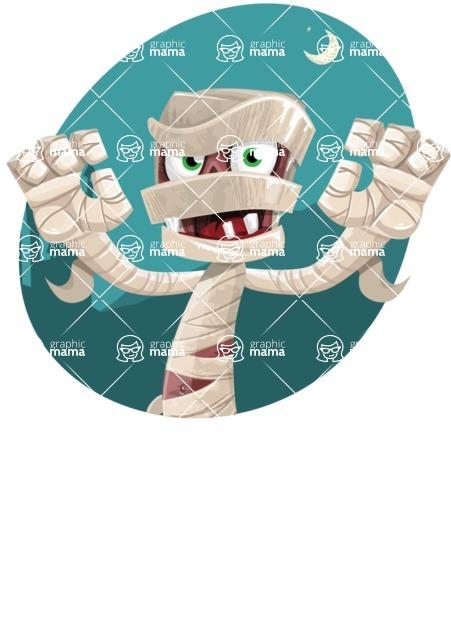 Funny Mummy Vector Cartoon Character - Night Of the Dead Illustration