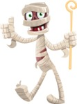 Funny Mummy Vector Cartoon Character - Making Thumbs Up