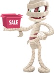 Funny Mummy Vector Cartoon Character - On a Sale