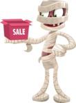 Funny Mummy Vector Cartoon Character - On a Sale