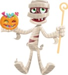 Funny Mummy Vector Cartoon Character - Trick Or Treating