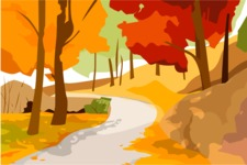 Nature Backgrounds, Patterns and Frames Themed Graphic Collection - Abstract Nature Autumn Background