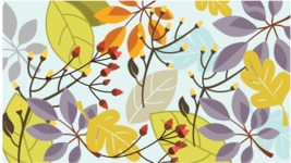 Nature Backgrounds, Patterns and Frames Themed Graphic Collection - Vector Background with Colorful Leaves