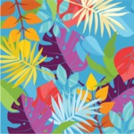 Nature Backgrounds, Patterns and Frames Themed Graphic Collection - Exotic Flowers Background