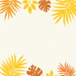 Nature Backgrounds, Patterns and Frames Themed Graphic Collection - Autumn Floral Frame