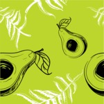 Nature Backgrounds, Patterns and Frames Themed Graphic Collection - Green Avocado Pattern