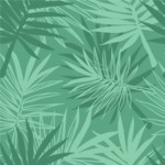 Nature Backgrounds, Patterns and Frames Themed Graphic Collection - Seamless Jungle Flowers Pattern