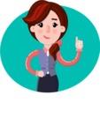 Flat marketing girl Cartoon Character - Shape 1