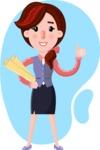 Flat marketing girl Cartoon Character - Shape 4