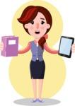 Flat marketing girl Cartoon Character - Shape 6