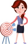 Flat marketing girl Cartoon Character - with Target