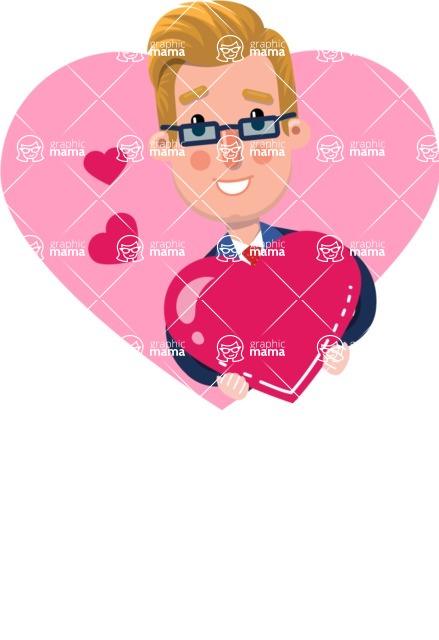 Businessman Cartoon Character in Flat Style - Shape 10