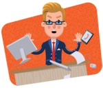 Businessman Cartoon Character in Flat Style - Shape 3