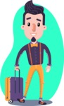 Cartoon Hipster in Flat Style Vector Character - Shape 5