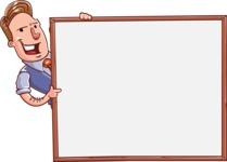Cartoon Teacher Vector Character - Presentation 5
