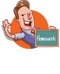 Cartoon Teacher Vector Character - Shape 2