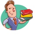 Cartoon Teacher Vector Character - Shape 4