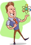 Cartoon Teacher Vector Character - Shape 5