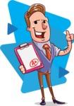 Cartoon Teacher Vector Character - Shape 6
