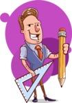 Cartoon Teacher Vector Character - Shape 7