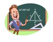 Cartoon Teacher Vector Character - Shape 8