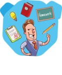 Cartoon Teacher Vector Character - Shape 9