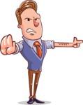 Cartoon Teacher Vector Character - Direct Attention