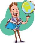 Cartoon Teacher Vector Character - Shape 10