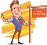 Cartoon Teacher Vector Character - Shape 12