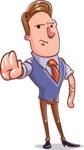 Cartoon Teacher Vector Character - Stop