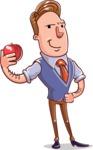 Cartoon Teacher Vector Character - Duckface