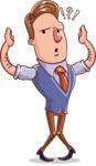 Cartoon Teacher Vector Character - Confused
