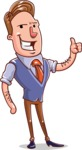 Cartoon Teacher Vector Character - Thumbs Up