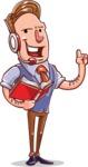 Cartoon Teacher Vector Character - Online Lesson