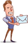 Cartoon Teacher Vector Character - With a Letter