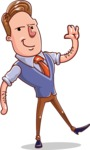 Cartoon Teacher Vector Character - Wave