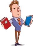Cartoon Teacher Vector Character - Digital or Paper