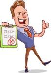Cartoon Teacher Vector Character - A+ Grade