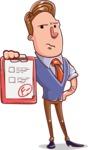 Cartoon Teacher Vector Character - F- Grade