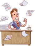 Cartoon Teacher Vector Character - Angry Teacher