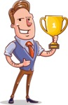 Cartoon Teacher Vector Character - With a Cup